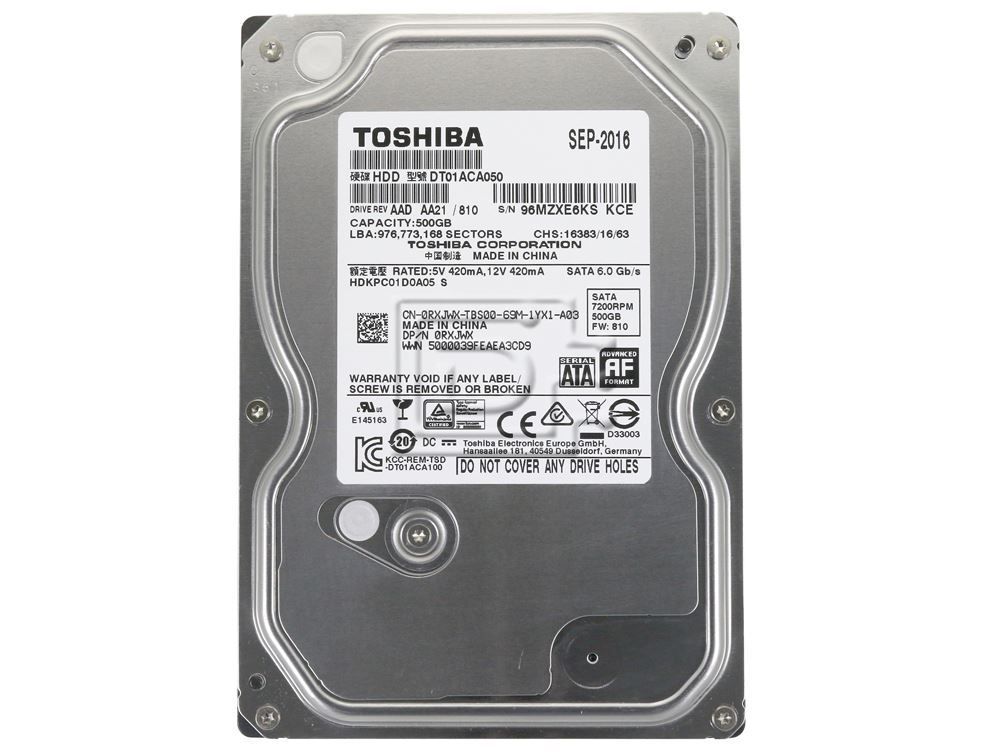 500 GB Hard Disk Toshiba Desktop